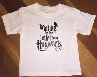 SALE! Waiting For My Letter From Hogwarts shirt, ready to ship