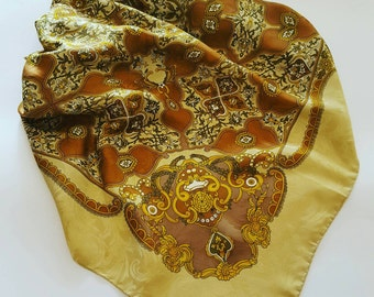 Vintage scarf in pure silk