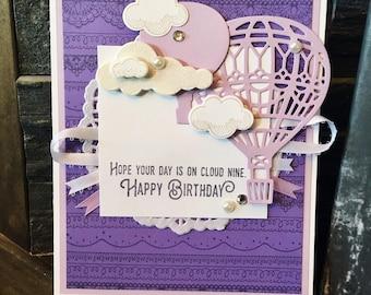 Hot Air Balloon Birthday Card // Handmade Card