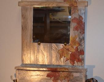 coat rack hangs keys, Wall coat rack, mirrored coat rack, Rustic coat rack, Entry way coat rack, wooden coat rack hangs keys