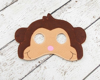 Monkey Mask - Pretend Play - Dress up - Monkey Costume - Party Favor - Monkey Party