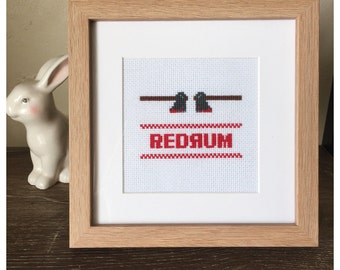 Redrum The Shining Framed Cross Stitch
