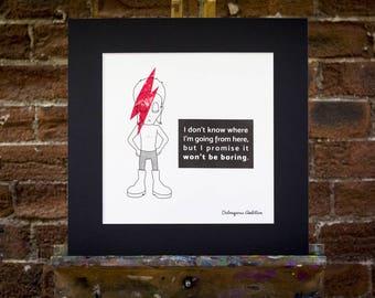 Davie Bowie Original Screen Print. Ziggy Stardust Wall Art