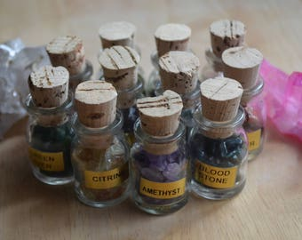 Crystal Vials (you pick the crystals!)