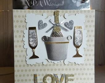 Love blank greetings card
