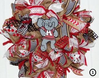 Alabama Crimson Tide Wreath - Choose Your Favorite Style