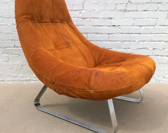 Mid Century Modern Percival Lafer Earth Chair and Ottoman