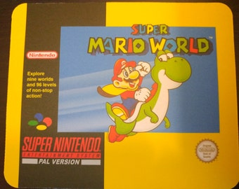 Super Mario World mousepad! Snes. PAL. Others available.