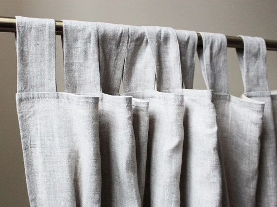 Light Grey Linen Curtains Grey Curtain Panel Custom Lenght