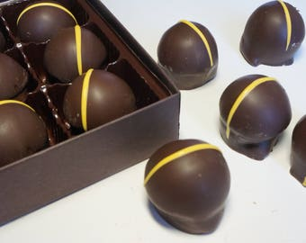Dark Chocolate Lemoncello Truffles 9pc.or 15pc. box w/clear top
