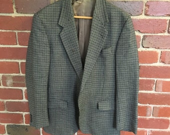 Trashed mens 1970s hounds tooth jacket