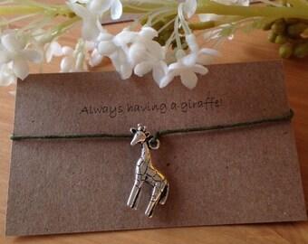 Always having a giraffe bracelet