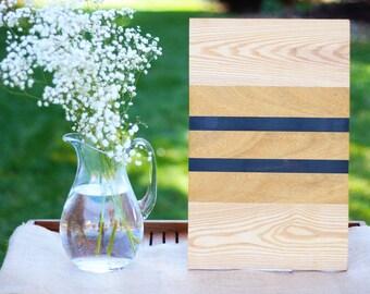 Wood Cutting Board - Ash, Canary and Ebony