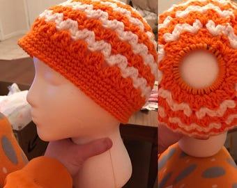 Ripple Messy Bun Hat
