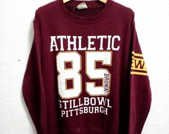Vintage Athletic 85 Bronx Stillbowl Pittsburgh Sweatshirt  Large Size