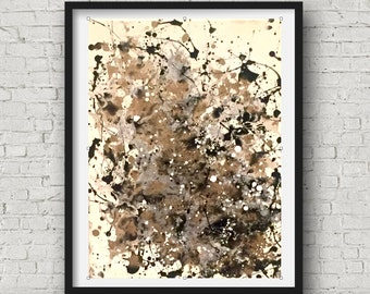Original Abstract Art, Black Gold Canvas Art, Black and White Abstract, Splatter Art, Original Canvas Art, Gold Silver Art