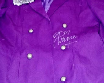 Prince Autographed Purple Trench Coat