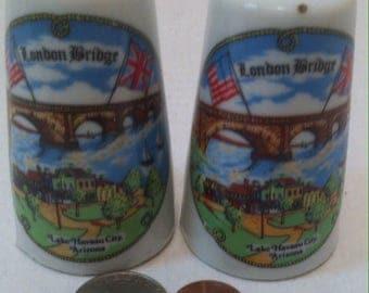 Vintage Salt and Pepper Shakers, Set of Vintage Salt & Pepper Shakers, London Bridge, Lake Havasu City, Arizona