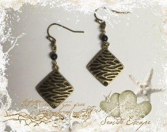 Black Zebra Earrings
