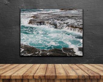 photography, sea, ocean, poster, pastel, turquoise, print, fine art, nature, water, wall decor, home decor, landscape, nature, wanderlust
