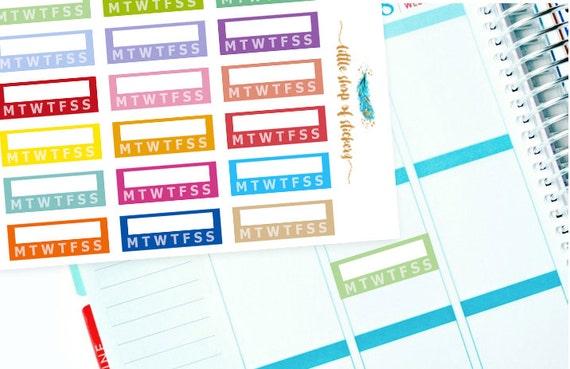 Habit Stickers    Tracker Stickers, Planner Stickers, Weekly Planner Stickers, Functional Stickers, Functional Planning, Planner Decor