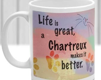 Chartreux cat mug, Chartreux cat gift, ideal present for cat lover