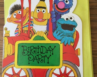 Vintage | Sesame Street | Birthday Party | Invitations c.1977