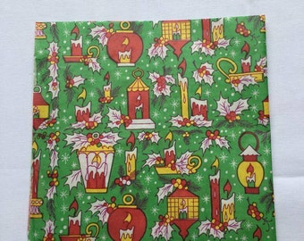 Vintage | Christmas | Candle | Lantern | Wrapping Paper #6