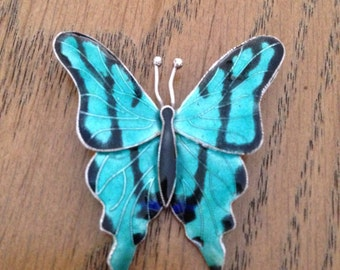 Sterling Enamel Butterfly