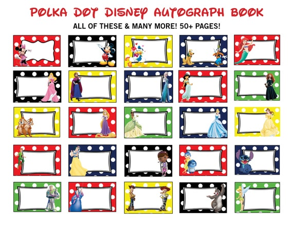 Dramatic image intended for printable disney autograph book