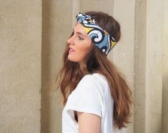 Headband turban en wax LUANDA
