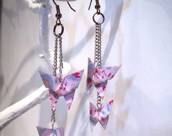 Origami paper flower Butterfly duo