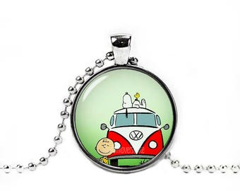 Snoopy Charlie Brown Peanuts Necklace Pendant Fandom Jewelry Cosplay Fangirl Fanboy