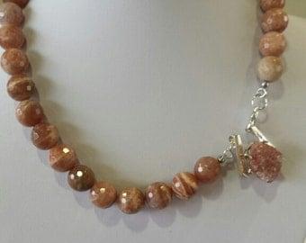 Special designe sunstone, 925 necklace