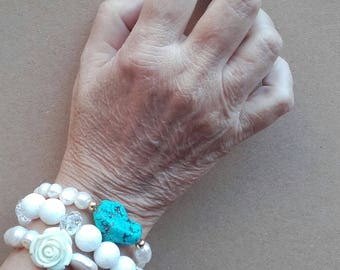 The bracelet of Turquoise light elegance... Of the loss of her