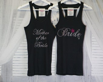 Tank Top Rhinestone Bride, Bridesmaid, Maid Of Honor, Mother Of The Bride, Sister Of The Bride And More!
