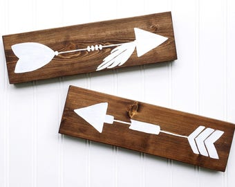 Arrow Sign Set | Arrows | Wood Signs | Handpainted Signs | Baby Decor | Wall Decor