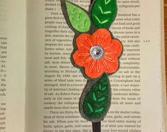 felt bookmark, unique bookmark, gift for booklover - handmade