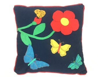 Pillow | Accent Throw Pillow | Applique Butterfly