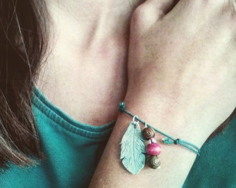 Feather Bracelet made from polymer clay