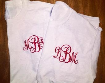 Long Sleeve Monogram T-Shirt  Long Sleeve Embroidered T-Shirt  Monogram T-Shirt