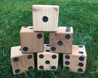 6 premium cedar yard dice for Yardzee and Farkle