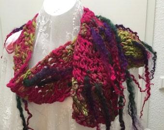Kumail style mohair scarf