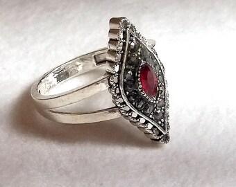 Anillo en Plata 925 y Circonita/ SIlver 925 and Cyrconite ring