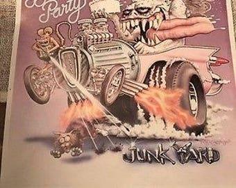 Birthday Party - Rare Junkyard Poster - Nick Cave