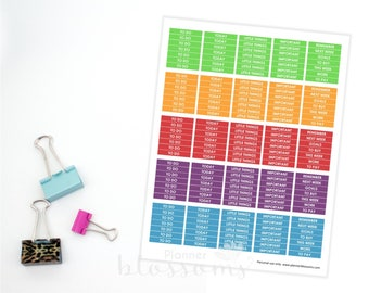 """To do Planner Stickers, printable. US Letter Size (8.5""""x11""""), Head box stickers. Life planner stickers. To do, today, little things."""