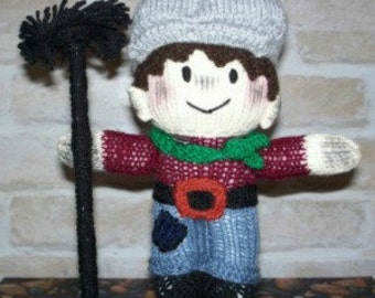 Hand Knitted Chimney Sweep doll