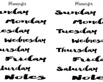 Days Of The Week (Brush)