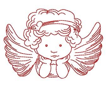 Machine embroidery applique Angel Nr. 1