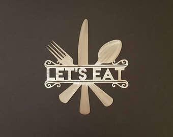 Eat Wall Art lets eat | etsy